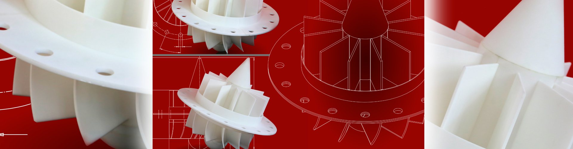 The picture shows the design of a swirl reducer kit for cyclone systems